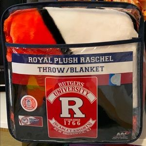 Rutgers Royal Plush Throw/Blanket